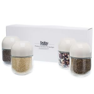 NEW bobuCuisine Air Tight Food Jars 4 Pack